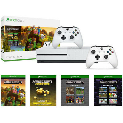 Xbox One S 1TB Minecraft Creators Bundle + Extra Xbox Wireless Controller