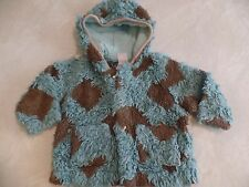 boys girls OILILY JACKET faux fur TEAL BROWN spring fall coat 86 18-24 months 2T