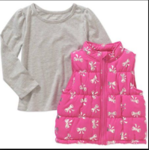 9145ee19e Healthtex Baby Toddler Girl Puffer Vest and Tee Outfit Set Size 4t ...