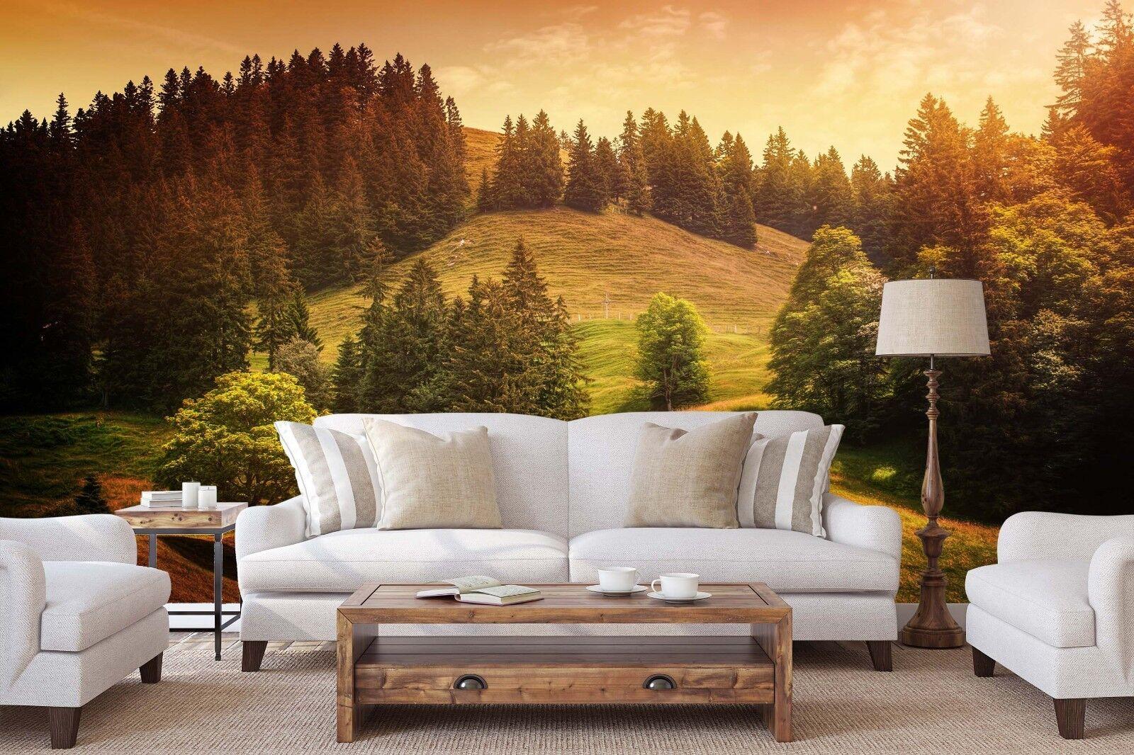 3D Wälder Rasen 801 Tapete Wandgemälde Tapete Tapeten Bild Familie DE Lemon