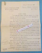 Lettre 1939 François PERROUX célèbre économiste Saint Romain en Gal Abbé Bourdon