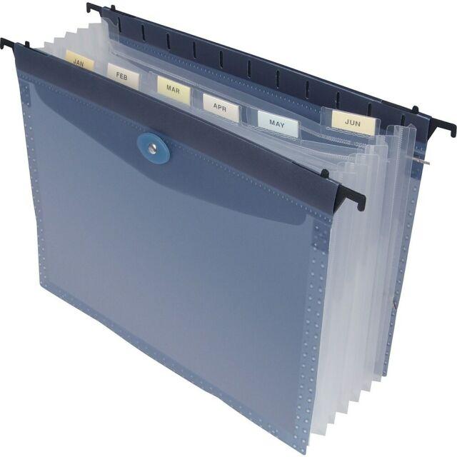 Staples Poly 7-Tab Expanding Hanging File Folder Letter Blue Each (13670)  653700
