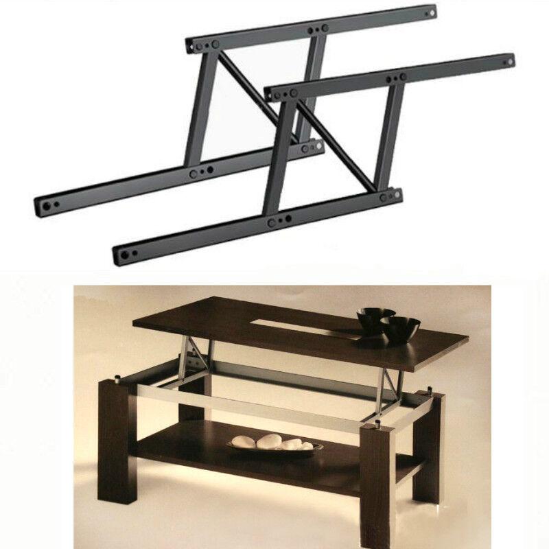 Lift Top Coffee Table Mechanism Shelf Hinge Spring Hardware Crafts Space Saving