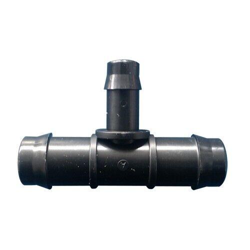 Antelco Poly Tee 25mmx13mm, presión de entrada 400kPa Negro  AUS Marca - 10Pcs o 25Pcs