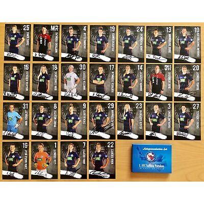 25 AK Turbine Potsdam Frauen Autogrammkarten 2018-19 original signiert inkl. Box