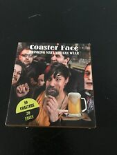 10 Double Sided 3D Party Face Mats Drinks Beer Face Coaster Novelty Fun Gift