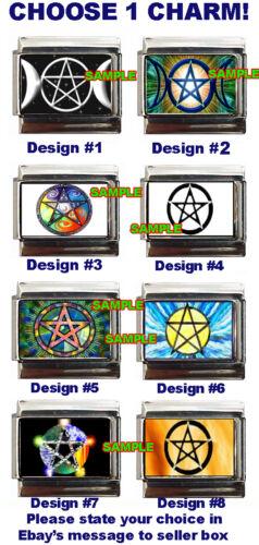 Cool Pentacle Custom Italian Charm Wicca Pagan Colorful Choose!