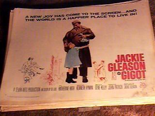 GIGOT 22X28 MOVIE POSTER /'62 JACKIE GLEASON