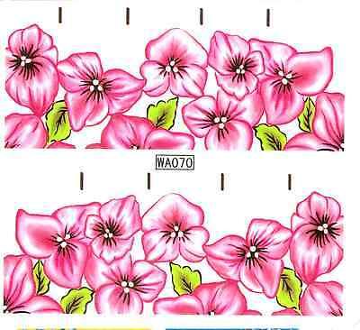 schöne NAGELSTICKER Nail Art Tattoo Aufkleber rosa Blumen Nagel sticker NT13