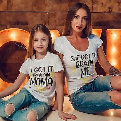 Streng Mother Daughter Matching T Shirts I Got It From My Mama T-shirt Mothers Day 555