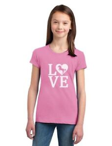 Love-Horses-Gift-For-Horse-Lover-Girls-039-Fitted-Kids-T-Shirt-Rearing-Horse