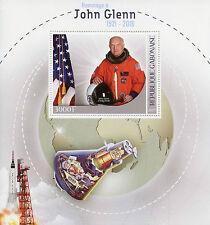 Gabon 2017 MNH John Glenn Tribute 1v S/S Space Shuttle Astronauts Stamps