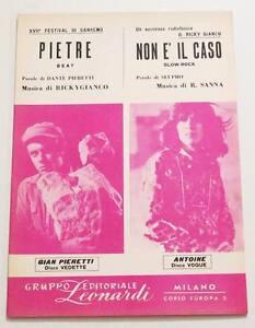 Partition-vintage-sheet-music-ANTOINE-Non-E-039-Il-Caso-60-039-s-Italy