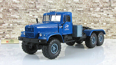 Scale car 1:43 KrAZ-255В 6X6 truck tractor beige