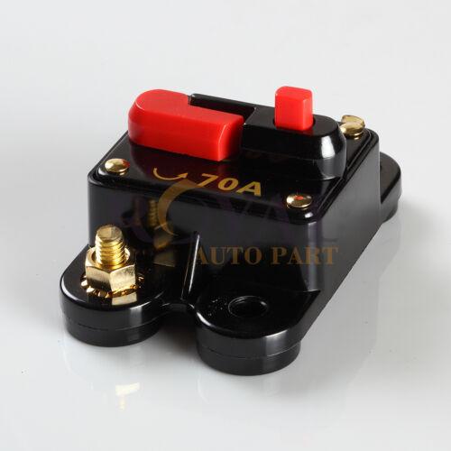 High Power 70 Amp Manual Reset Circuit Breaker 12V Car Auto Boat Audio Fuse