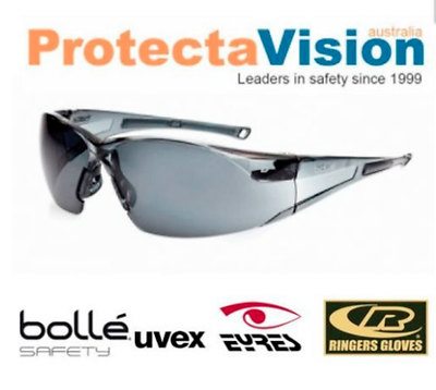 Bolle RUSH Twilight//Smoke//Clear lens Safety Glasses Sunglasses