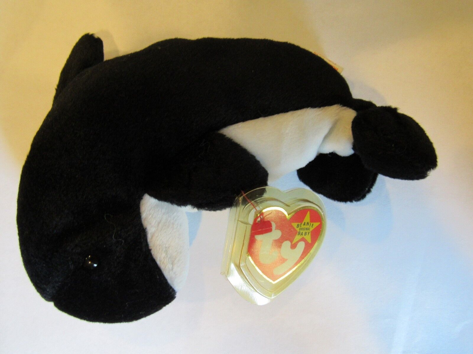MINT Rare Retired TY Beanie Babies WAVES with MANY Errors PVC Pellets