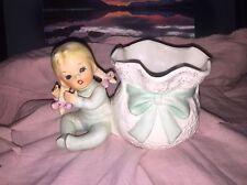Vintage Relpo 1950s Baby Girl Porcelain Figurine