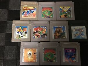 Lot-Of-10-Gameboy-Games-Popeye-2-Bart-amp-The-Beanstock-Fortified-Zone-Tetris