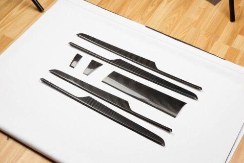 s LHD (Promotion) Quality Carbon Fiber Interior Trim 7pcs Set For Porsche Macan