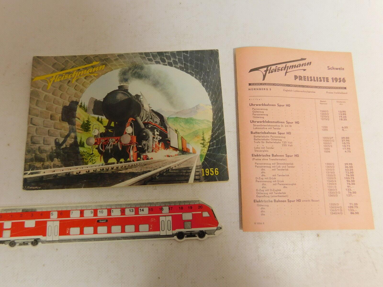 AS409-0,5   Fleischmann H0 Catalogo 1956 Svizzera/Franken con Listino Prezzi