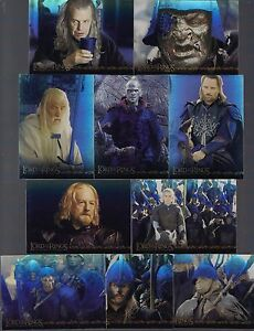 LORD-OF-THE-RINGS-RETURN-OF-THE-KING-2003-TOPPS-10-HOLOFOIL-CHASE-CARD-SET-1-10