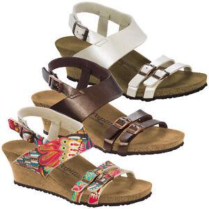 size 40 a9d42 59602 Details zu Birkenstock Papillio Ellen Birko-Flor Schuhe Absatz Sandale Keil  Sandalette