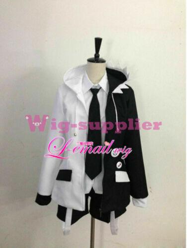 Dangan Ronpa 2 Monokuma Uniform Cosplay Costume Outfit Set Unisex Free Stockings