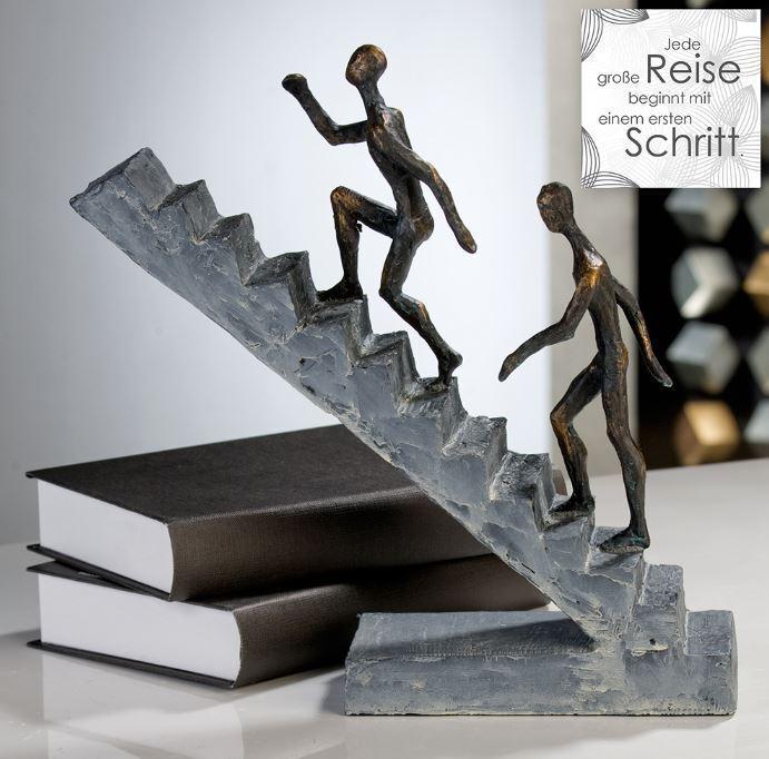 79126 escultura Staircase de poly broncefinish altura 28cm ancho 28cm