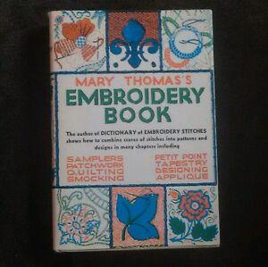Mary Thomasu0026#39;s Embroidery Book Embroidery Stitch Book Vintage | EBay