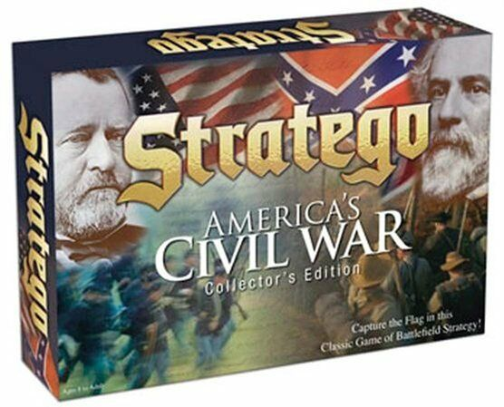 Stratego COMPLETE WOOD PIECES Civil War Collector's Edition Board Game 2007