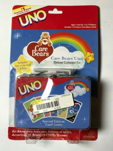 Care Bears Theme UNO Card Game Special Edition Deluxe Collectable Storage Tin