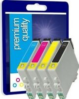 4 Compatible Ink Cartridges for Epson T0715 (T0711 T0712 T0713 T0714)