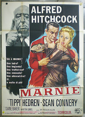 UL27 MARNIE ALFRED HITCHCOCK AWESOME ORIG 4sh POSTER ITALY