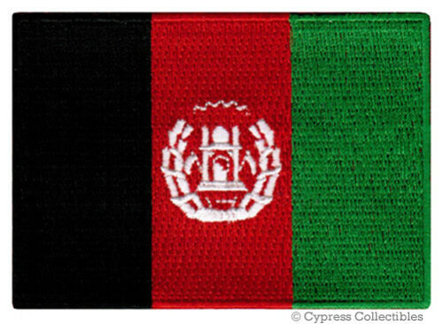 AFGHANISTAN FLAG embroidered iron-on PATCH AFGHAN AFGHANI WAR MILITARY EMBLEM