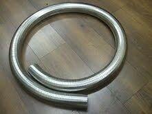 "50mm 2"" Flexible Polylock Stainless Steel Flexi Tube 1/2 Metre Exhaust Universal"