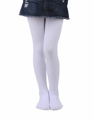 NEW Girls Soft Winter Footed Warm Tights Thick Opaque Stockings 0-14 Year Old