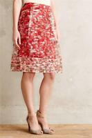Anthropologie Catharina Skirt Sz 2 Size Xs Nip By Wolven Red