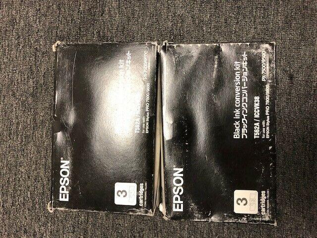 NEW GENUINE Epson T562A/ICCVK38 Black Ink Conversion Kit Stylus Pro 7800/9800