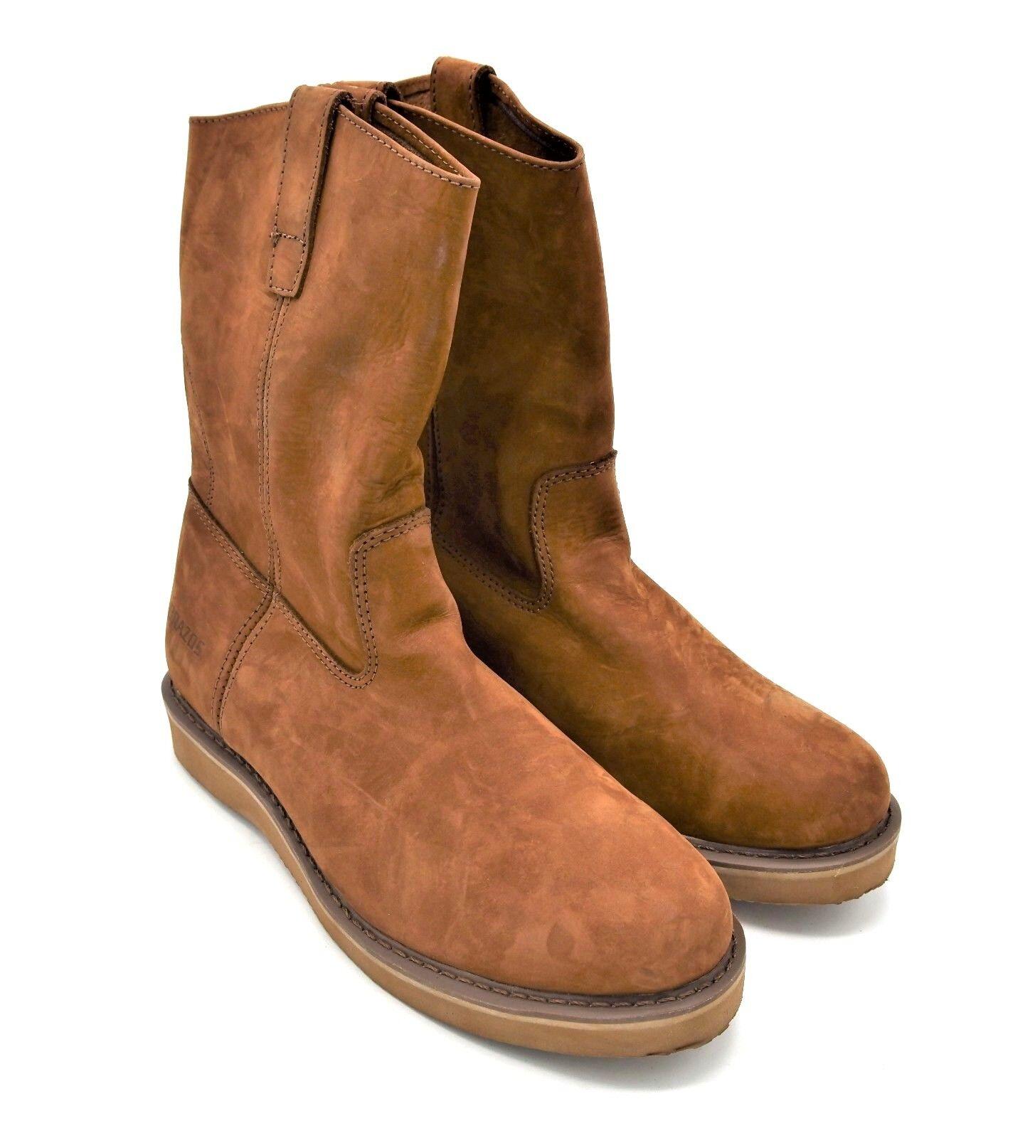 D729l usata uomini brazos - cuneo brown tira sul cuoio boot 11,5 m