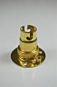 Brass small bayonet batten fitting bulb holder lamp holder table image is loading brass small bayonet batten fitting bulb holder lamp aloadofball Gallery