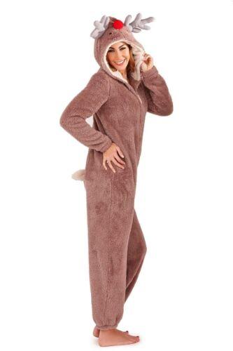 Donna Ragazze in Pile All in One Abbigliamento Pigiama Taglia 8-22