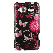 For HTC Radar 4G TMobile HARD Protector Case Snap on Phone Cover Black Butterfly