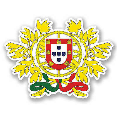 2 x Lisbon Portugal Sticker Car Bike iPad Laptop Map Flag Travel Luggage #4294