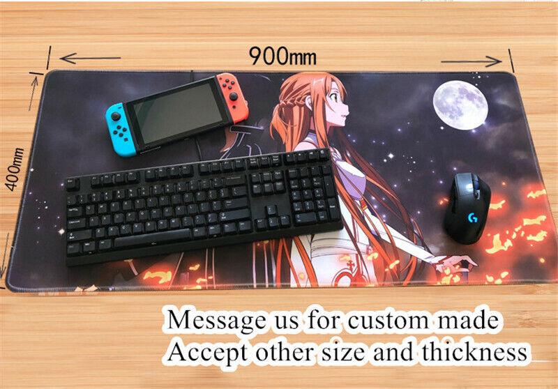 Date a Live Tokisaki Kurumi Anime Girl Mouse Pad Large Playmat Keyboard Game Mat