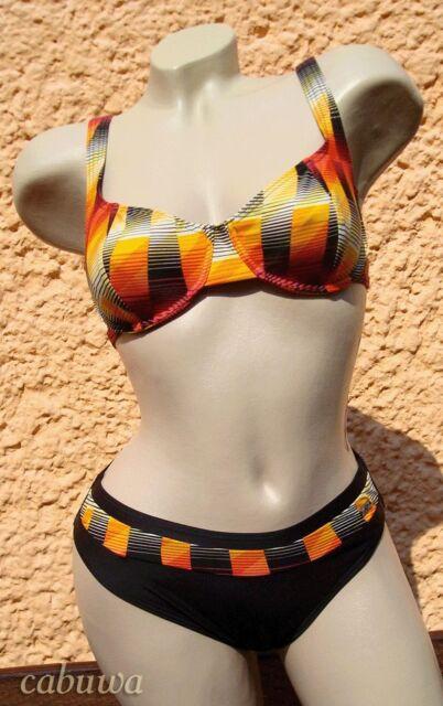 Sportlicher Bikini in aktuellem Design Gr. 42B von NATURANA! NEU! Schwarz, bunt