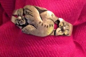 Sterling-Silver-Bracelet-925-Taxco-Mexican-Bird-Vintage-Child-039-s