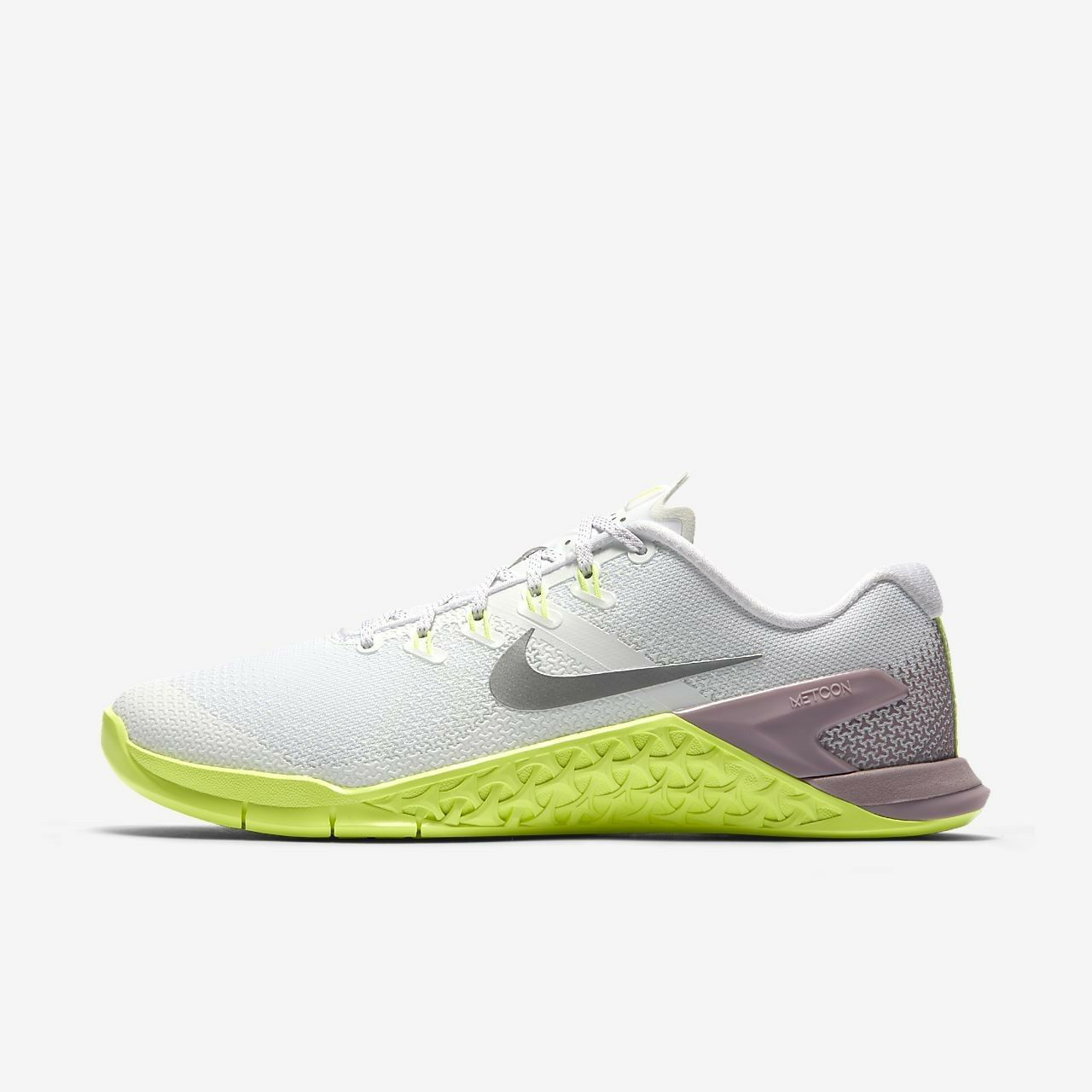 FEMMES Nike Metcon 4 Chaussures Blanc Argenté 924593 102 Pdsf