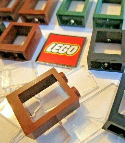 Choose Size /& Colour 60593 60602 LEGO 1x2x3 Windows or Glass Packs of 4
