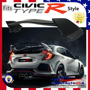 Type-R-Style-PRIMER-BLACK-Rear-Lid-Wing-Spoiler-For-16-Up-Honda-Civic-Hatchback